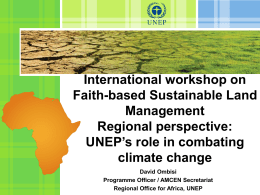 Powerpoint - Faiths for Green Africa