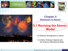 5.1 Revising the Atomic Model