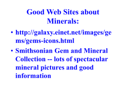 What is a Mineral? - Department of Geology