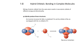 Hybrid Orbitals: Bonding in Complex Molecules