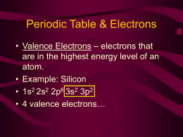 Periodic Table & Electrons
