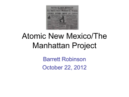 Atomic New Mexico/The Manhattan Project