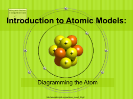 Introduction to Atomic Models: