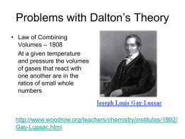 Problems with Dalton's Theory