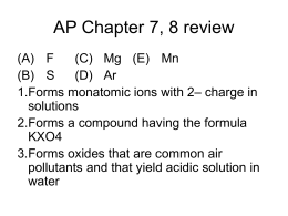 AP Chapter 7, 8 review