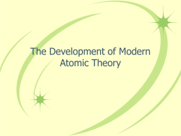 Development of Atomic Theory Notes