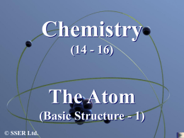 The Atom - Basic Structure 1 PowerPoint
