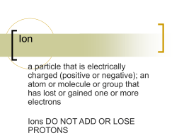 IONS and Isotopes PPT