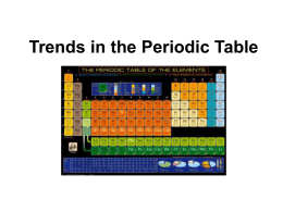 Trends in the Periodic Table 8