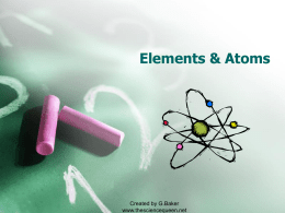 Elements, Atoms, and the Periodic Table PowerPoint Notes