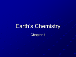 Earth`s Chemistry (Chapter 4)