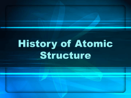 History of Atomic Structure