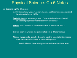 Physical Science: Ch 1 Notes