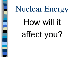 Nuclear Energy - Teacher Pages