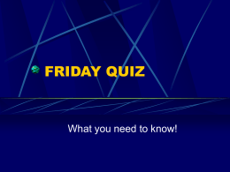 friday quiz
