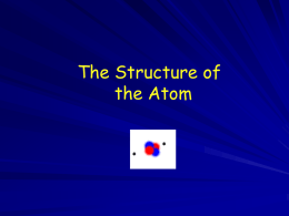 atoms ppt lecture - Mayfield Science