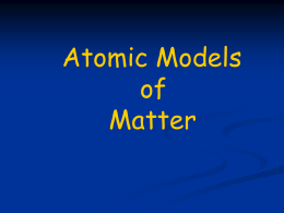 atomic models ppt lecture
