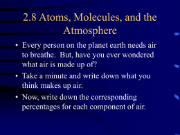 2.8 Atoms, Molecules & the Atmosphere Notes