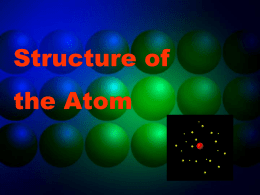 Structure of the Atom - pams