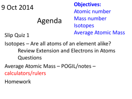 weighted average atomic mass