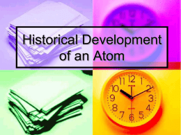 Historical Development of an Atom - pams