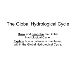 The Global Hydrological Cycle