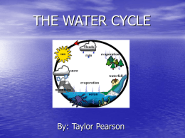THE WATER CYCLE - University of North Texas