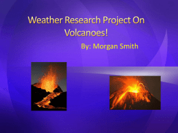 Weather Research Project On Volcanoes!