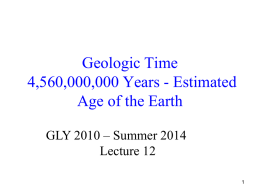 Geologic Time - Florida Atlantic University