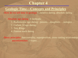 Chapter 4 - Geological Time
