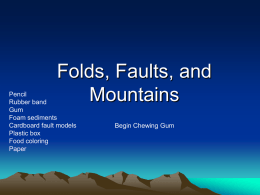 Faults Folds and Mountains