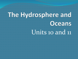 The Hydrosphere and Oceans