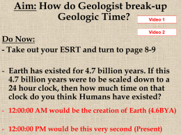 The Geologic Time Scale/Fossils