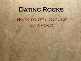Absolute and Relative Rock Dating