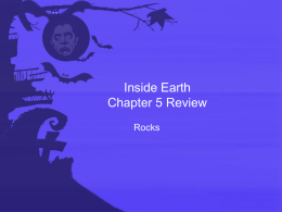 Inside Earth Chapter 5 Review