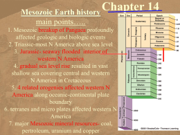 Chapter 14 - Mesozoic Geology