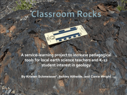 STEM rock sets project ppt for GSA 2011