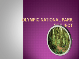 Olympic National Park Project