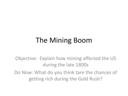The Mining Boom