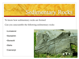 Sedimentary Rocks - Noadswood Science