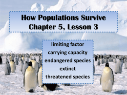 How Populations Survive Chapter 5, Lesson 3