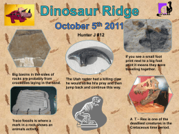 Hunter`s Dinasaur Ridge Progect