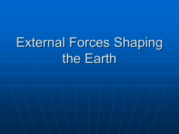 External Forces Shaping the Earth