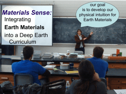 Deep Earth Materials