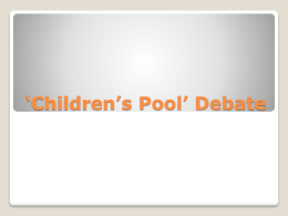 *Children*s Pool* Debate