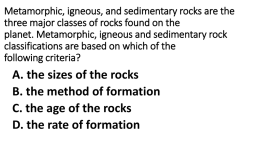 Rock Cycle Review/Study Guide