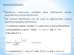 Chapter 3 - Normal Distribution