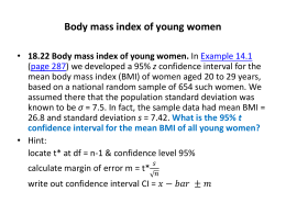 Body mass index of young women Men of few words?