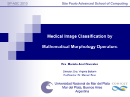 Medical Image Classification using Mathematical Morphology