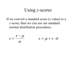 Using z-scores - Pierce College
